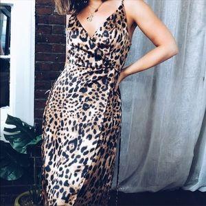 Dresses & Skirts - NWOT Leopard Print Satin Dress